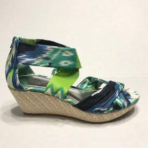 Apostrophe Wedges Sandals Multicolored